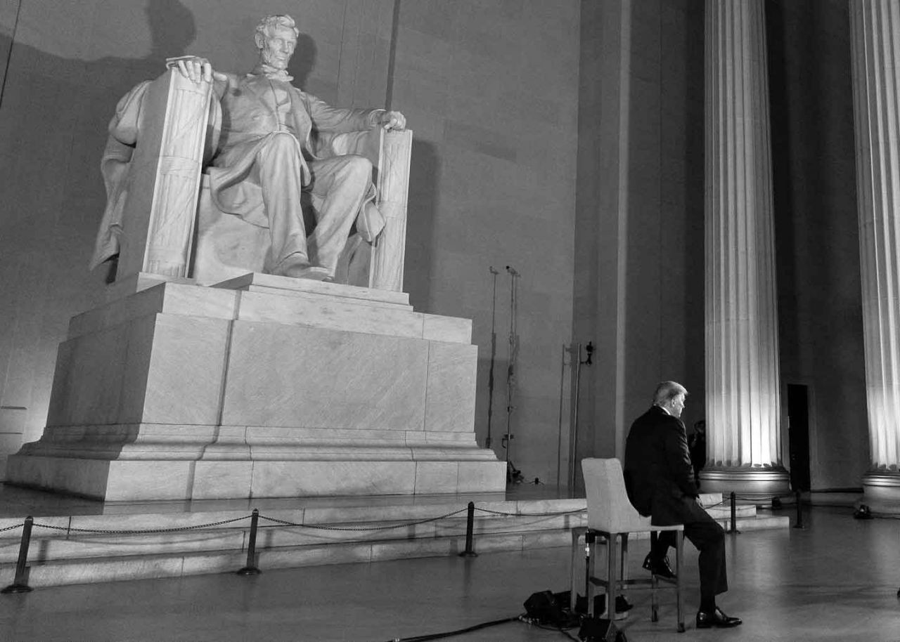 President Trump at the Lincoln Memorial. (White House photo)
