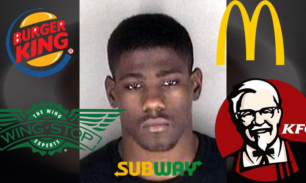 Would You Like Jail With That? Fast Food Bandit Faces Years In Prison Chow Line.